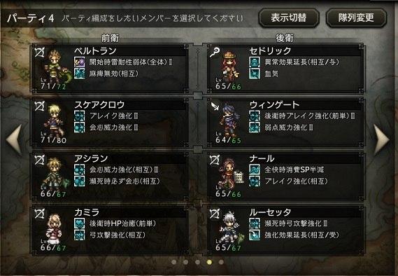 オクトラ_歴戦の槍_編成3